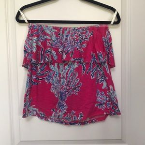 NWT LILLY PULITZER WILEY TUBE TOP